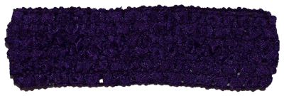 1.5 inch Crochet Headband - Royal Purple - 1 piece